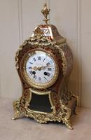 French Tortoiseshell & Brass inlay Mantel Clock (5 of 14)