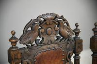 4 Carved Oak Dining Chairs (6 of 13)