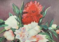 Large Original Gilt Framed 20th Century Impressionist Still Life Floral Oil Painting (5 of 12)