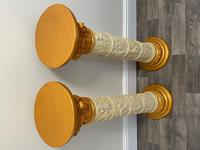 Dutch Golden Age Style Gilt Harvest Relief Plinth Display Torcheres (17 of 87)