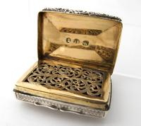 George IV silver vinaigrette 'Forget me not' John Bettridge Birmingham 1829 (3 of 11)