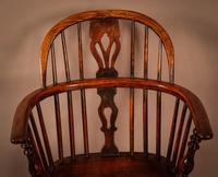 Ash & Elm Windsor Chair Stamped F Walker Rockley (6 of 10)