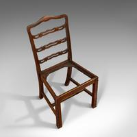 Set of 4, Antique Ladder Back Chairs, Irish, Mahogany, Dining Seat, Victorian (6 of 11)