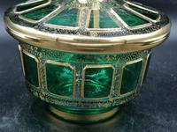 Antique Bohemian Cabochons Glass Covered Bowl, Box, Biscuits Jar (8 of 10)