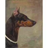 Wilhelm Westerop, Portrait of a Doberman, Oil Painting (2 of 10)