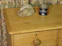 Petite Antique Chest - Stripped Pine Chest of Drawers (8 of 8)