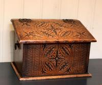 Solid Oak Carved Box (2 of 8)