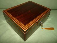 Georgian Inlaid Rosewood Jewellery / Table Box c.1825 (12 of 12)