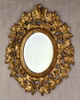 Small English Giltwood Oval Mirror (2 of 8)