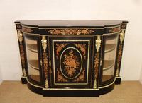 Victorian Ebonised & Marquetry Display Cabinet