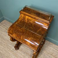 Sensational Victorian Burr Walnut Piano Top Antique Davenport Desk (8 of 10)