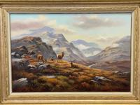 """Oil Painting Scottish Stags """"Denizens of the Highlands"""" Signed Wendy Reeves (4 of 45)"""