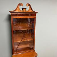 Quality Tall Slim Mahogany Victorian Antique Bookcase (8 of 8)