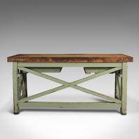 Large Antique Silversmith's Table, English, Pine, Industrial, Bench, Victorian (6 of 12)