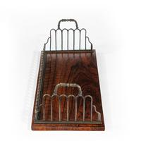 Regency gilt brass & rosewood book tray, attributed to Gillows (6 of 6)