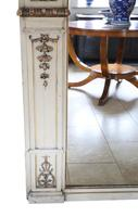 19th Century overmantle wall floor mirror painted (3 of 7)