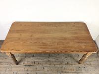 Victorian Antique Pine Farmhouse Kitchen Table (4 of 15)