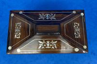 William IV Rosewood Twin Section Tea Caddy with Inlay (8 of 11)