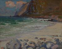 Cornish coastal landscape by H A Minton (6 of 6)