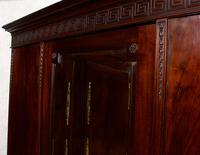 Triple Compactum Wardrobe Flame Mahogany 19th Century (9 of 12)