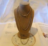 Edwardian Ladies Pocket Watch Guard Chain 1905 12ct Rose Gold Filled (2 of 8)