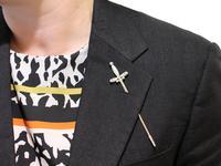 1.59ct Diamond & 9ct Yellow Gold Jabot Pin 'Sword' Brooch - Antique Edwardian (9 of 9)