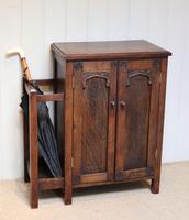 Edwardian Oak Hall Cabinet (8 of 10)