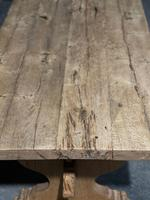 Large Rustic Bleached Oak Farmhouse Refectory Dining Table (5 of 25)