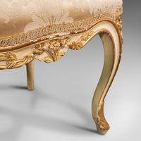 Antique Boudoir Chair, French, Giltwood, Bedroom Dressing Seat, Victorian c.1900 (10 of 12)
