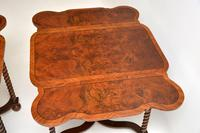 Pair of Antique Burr Walnut Drop Leaf Side Tables (12 of 12)