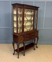 Carved Mahogany Display Cabinet by Warings (13 of 19)