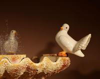 Unusual Vallauris Ceramic Love Birds & Dolphins Free Standing Centre Fountain (3 of 20)