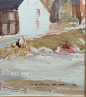 Original Vintage North Wales Coastal Village Landscape Watercolour Painting (9 of 12)