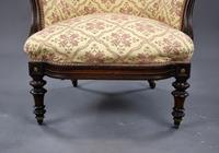 Victorian Rosewood Ladies & Gents Armchairs (11 of 22)