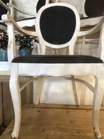 Set of Six Painted Vintage Elbow Dining Chairs (5 of 9)