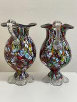 2 Beautiful Italian Murano Fratelli & Torso Millefiori Glass Vases (23 of 34)