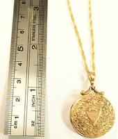 Edwardian Hallmarked 9ct Gold Engraved Locket with Necklace Chester Assayed (7 of 9)