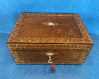 Victorian Walnut Writing Slope with Superb Inlay