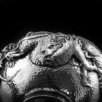 Antique Solid Silver Japanese Condiment Pot / Bowl - Meiji c.1900 (13 of 14)