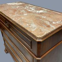 French Charles X Style Marble Top Commode (4 of 9)