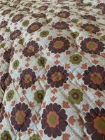 Antique Vintage Retro French Large King Size Patterned Bed Quilt (6 of 10)
