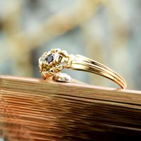 The Antique Heart Set Rose Diamond & Amethyst Ring (4 of 6)