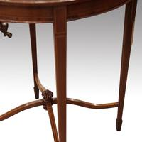 Edwardian Inlaid Circular Mahogany Occasional Table (3 of 6)