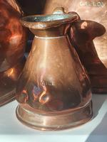 Antique set of 5 x Graduated Copper haystack Jugs Gallon down to Gill (5 of 9)
