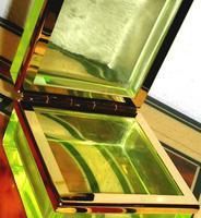Pair of Exclusive Antique Uranium Glass Caskets (2 of 3)