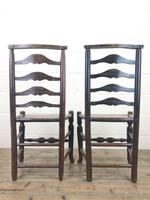 Pair of Antique Ladder Back Chairs (7 of 8)