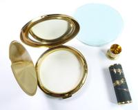 1950s Japanese Vanity Set With Original Lipstick Holder And Compact Mirror Unused (5 of 8)