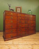 Substantial Antique Bank Of 18 Shop Drawers (17 of 25)