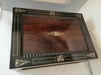 19th Century Rosewood Jewellery Box (4 of 10)