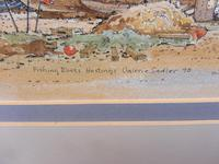 Watercolour & Ink Hastings Boats Listed Artist Valerie Sadler (2 of 10)